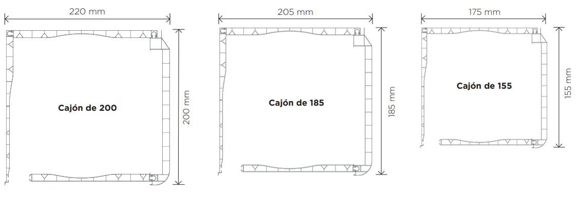 Medidas CAJÓN DECOBLOCK